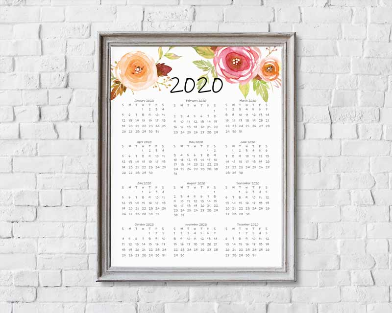 It's just a graphic of Insane 2020 Year Planner Printable