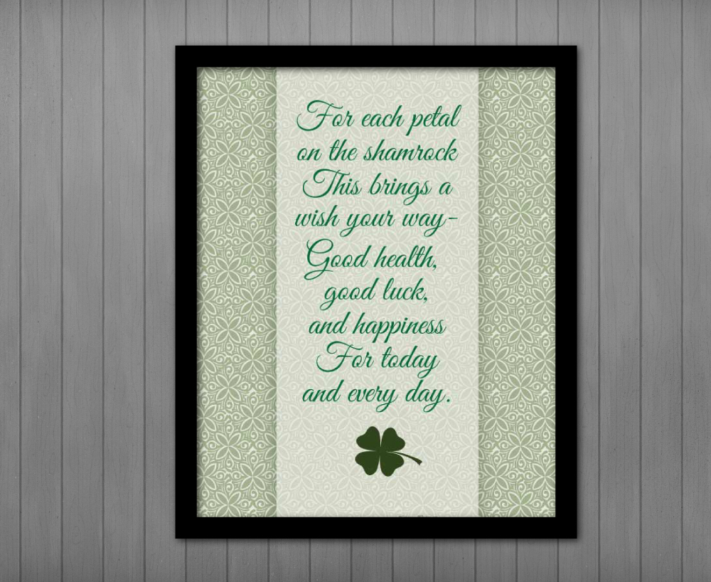 picture relating to Printable Irish Blessing known as Irish Blessing Poem, Printable