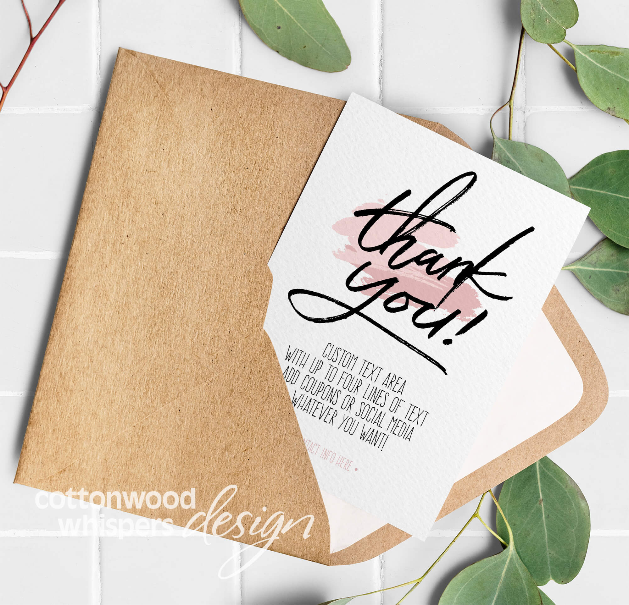 thank you  editable pdf thank you card for resellers