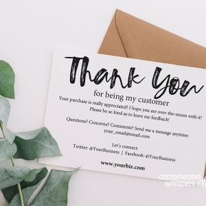 Business Thank You Inserts