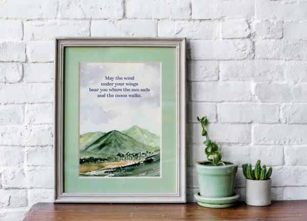 may the wind tolkien quote mockup